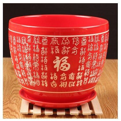 Ceramic Pure Red Home/ Garden Flower Planter Pot - Ceramic Planter Chinese