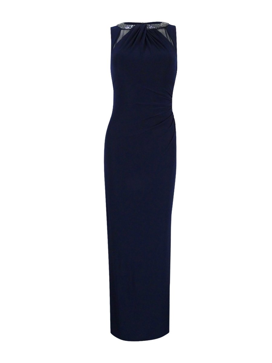 Lauren Ralph Lauren Women's Beaded Gown (18, Lighthouse Navy)