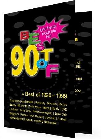Geburtstag motto 90er