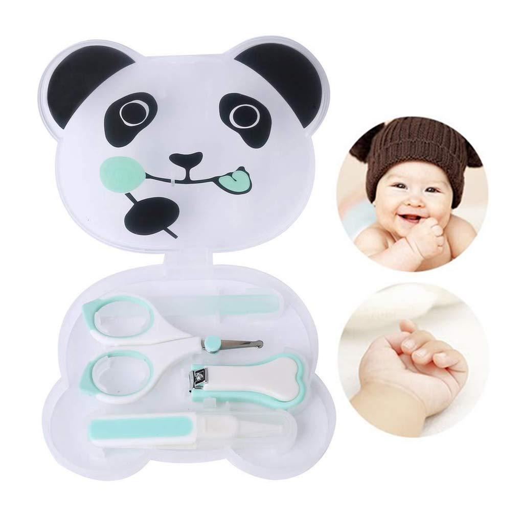 LHKJ Kit Manicure Neonato,4-in-1 kit per la Cura del Bambino Tagliaunghie Neonatali,Verde