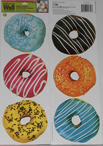 Main Street Wall Creations Decorated Donut Medley Jumbo Removable Stickers/Decals