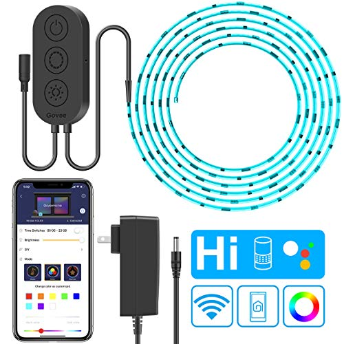 WiFi LED Strip Lights, Govee 16.4ft(5M) Waterproof Wireless Smart Phone App Controlled Light Strip Kit, Amazon Alexa Google Assistant Control RGB Led Strip Lights Music Sync (Not Support 5G -
