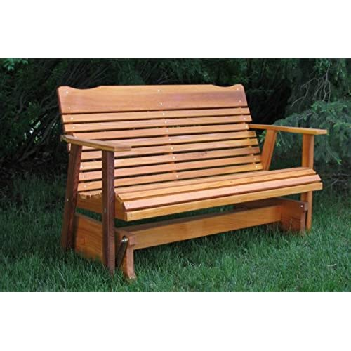 4' Cedar Porch Glider W/stained Finish, Amish Crafted - Amish Outdoor Furniture: Amazon.com