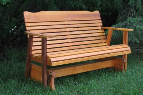 4' Cedar Porch Glider W/stained Finish, Amish Crafted by Kilmer Creek (Image #1)