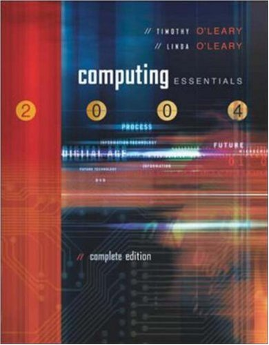 Download Computing Essentials 2004 Complete with PowerWeb, Interactive Companion CD, and O'Leary Expansion CD PDF ePub ebook