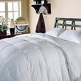 Luxlen Grand Full / Queen White Goose Down Comforter - 500 Thread Count, 600 Fill Power Luxury Bedding