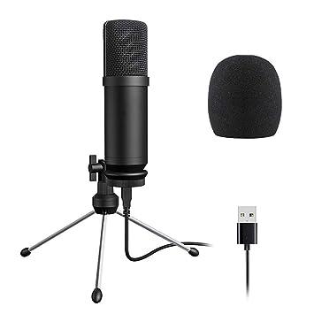 Micrófono De Condensador USB con Cable Mic con Sobremesa Mini ...