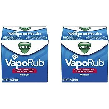 Vicks VapoRub Ointment, 1.76 Ounces, 2 Pack