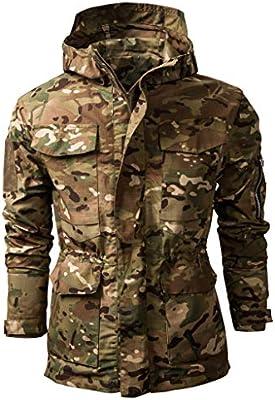 Giubbotto Giacca Uomo Invernale Retro Militare Lavoro Giacca 48 Giubbotto con Cappuccio Termica Giacca Antivento Cappotto Uomo Inverno Casual Jacket Outwear Giacche Trekking