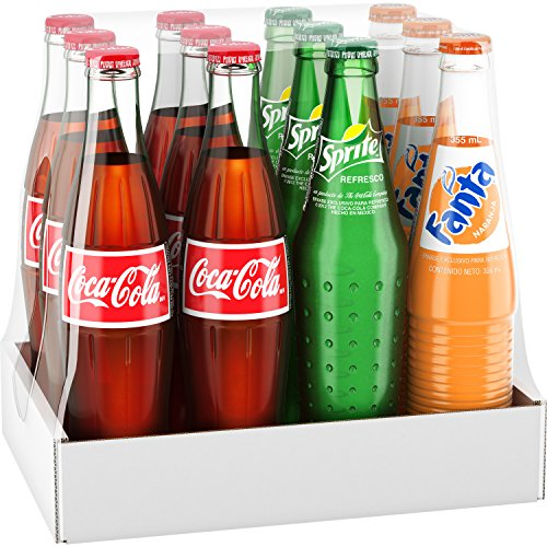 Mexican Coke Fiesta Pack  12 Fl Oz Glass Bottles  12 Pack