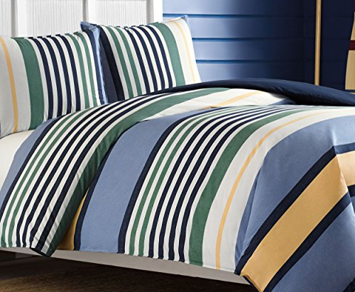 - Nautica Dover Duvet Cover Set, Twin, Blue
