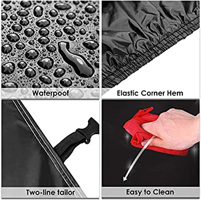 Sailnovo Car Cover Waterproof All Weather SUV Car Covers for Automobiles Car Sun Protection/Dustproof/Scratch Resistant Cover Full SUV Covers Outdoor Indoor for SUV up to 191