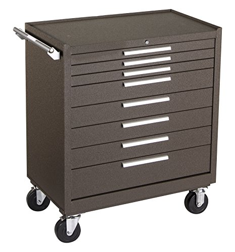 Kennedy Manufacturing 348XB 8-Drawer Cabinet with Ball-Bearing Slides, Brown Wrinkle