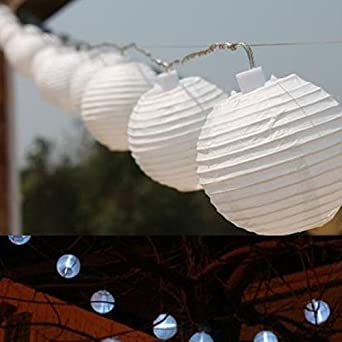 Vinteky® Lampions LED Lichterkette Für Weihnachten Blumendekor Hochzeit  Zimmer Dekoration Beleuchtung (Weiß, 20