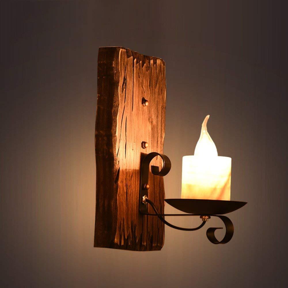 Chuiqingwang ビンテージLEDウォールライト産業用照明素朴なワイヤー無垢材大理石燭台屋内ホームウォールランプレトロ照明器具ロフト用に適していますコーヒーバー照明ペンダント(電球は含まれていません) B07SPGD7LK