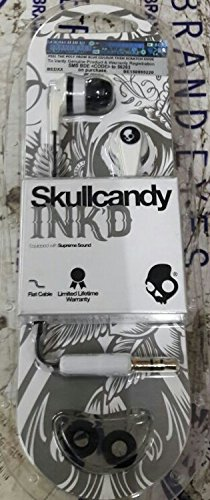 Skullcandy Ink'd 2 Earbud (White/Black) (Discontinued by Manufacturer)