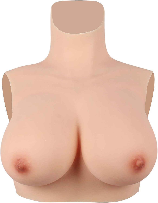 Mypersian Lightweight Womens Silicone Breast Forms High Collar Drag Queen Fake Boobs Crossdresser Man Cosplay 4G 51c%2BofSn7BL