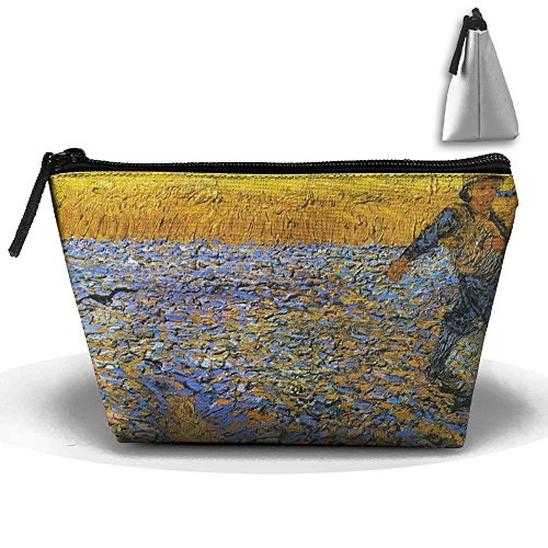 UEYYP Watchmen In Van Gogh's Rye Women's Cute Zippered Makeup Bag Large Trapezoidal Cosmetic Travel Bag Portable Pouch Multifunction Toiletries Organizer Bag