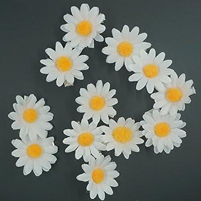 [12 Packed] Girls Sweet Daisy Hairpin Side Bridesmaid Hair Clip Beach Wedding Flower Hair Accessory