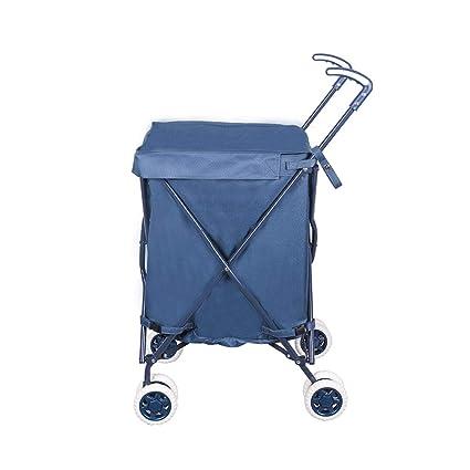 ff83598d603f Amazon.com: Folding Boot Cart Household Shopping cart to Buy Food ...