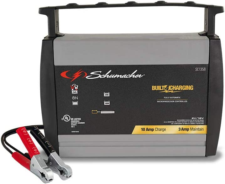 Schumacher SC1358 6//12V Fully Automatic Battery Charger and 10A Maintainer