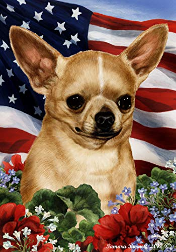 Best of Breed Chihuahua Tan Patriotic I Garden Flag ()