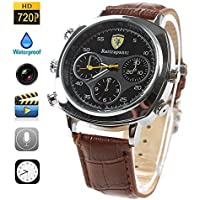NEW HUGE CAPACITY 32GB Watch Hidden Camera Extended Storage Spy Micro Lens HD Camcorder Covert Wireless Recording Mini DVR Fashionable Classic Wrist Audio Video Clock PC Mac USB Connection