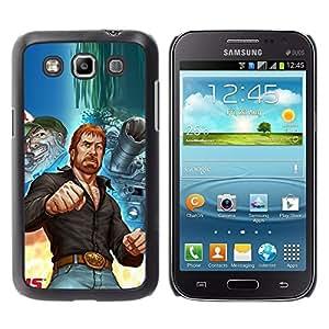 Be Good Phone Accessory // Dura Cáscara cubierta Protectora Caso Carcasa Funda de Protección para Samsung Galaxy Win I8550 I8552 Grand Quattro // Tough Man Kung Fu Martial Arts Tank