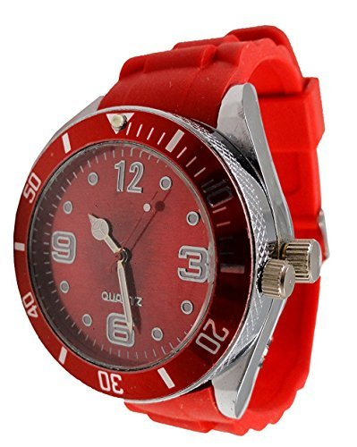 2-in-one Watch with Secret Hidden Herb and Spice Grinder with Bracelet (Red)