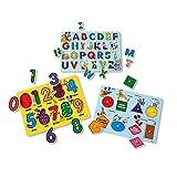 """Melissa & Doug Disney Classics Alphabet Wooden Peg Puzzle, Developmental Toys, Sturdy Wooden Construction, 26 Pieces, 0.7"""" H x 11.6"""" W x 8.5"""" L: more info"""