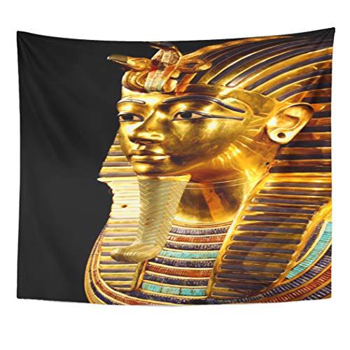 Semtomn Tapestry Artwork Wall Hanging Egypt Pharaon Tutankhamun Egyptian Travel King TUT Tutankhaten History 50x60 Inches Home Decor Tapestries Mattress Tablecloth Curtain Print ()