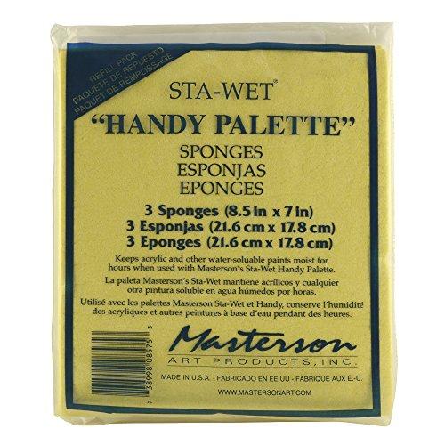 Masterson Sta-Wet Handy Palette pack of 3 handy palette sponges 8 1/2 in. x 7 in. -