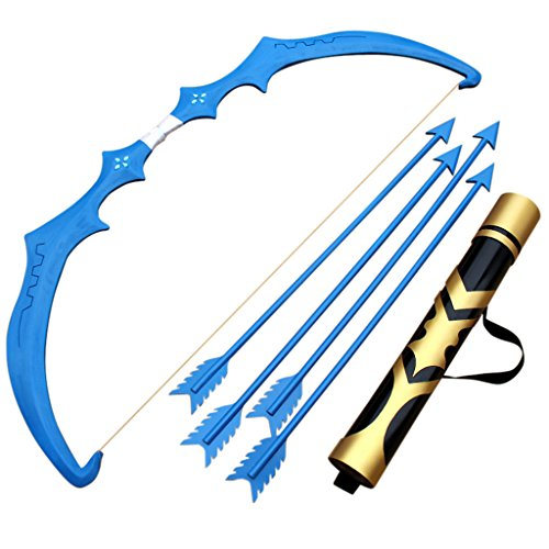 Mtxc League of Legends Cosplay Frost Archer Ashe Weapons Ancient Ice Bow 2nd Blue