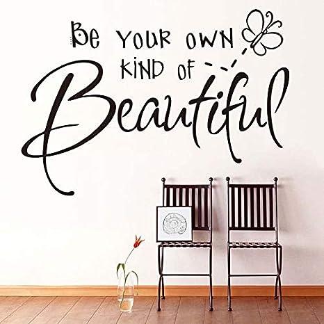 83 cm x 58 cm Sea su propio tipo de letra hermosa etiqueta de la pared