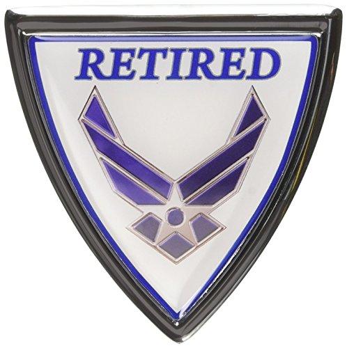 Air Force Retired Chrome Emblem (Air Force Emblem)