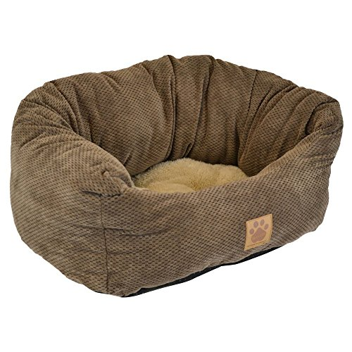 (Precision Pet Tailored Daydreamer Bed, 26 by 22 by 10-Inch, Chenille, Coffee Liqueur)