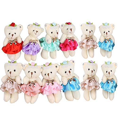 Sealive Stuffed Animals Plush Bears (1 Dozen), Mini Bear Stuffed Animal Bulk Assorted Toys for Birthday Cake Wedding Decorations Party Favors Supplies from Sealive