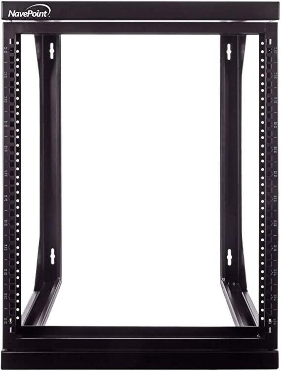 Amazon Com Navepoint 12u Wall Mount It Open Frame 19 Inch Rack With Swing Out Hinged Gate Black