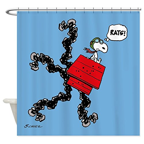 CafePress Flying Ace Rats! Decorative Fabric Shower Curtain (69