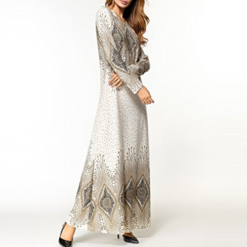 East Femmes Dames Printed Kaftan Robe White Malay Casual Jalabiyas Moroccan Clothes Middle pour Musulman Abaya Zhuhaitf Hooded Maix Caftan Dresses Dress B7fUq
