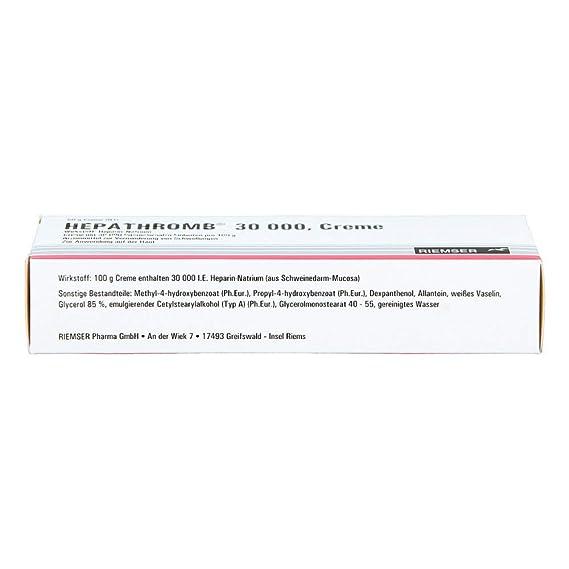 hepathromb Crema 30.000 50 g Color Crema: Amazon.es: Salud y ...