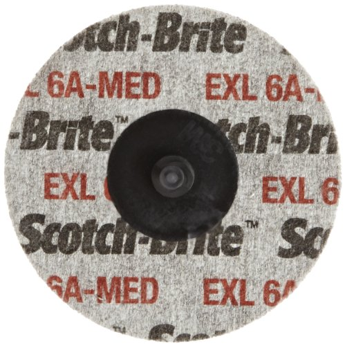 "3M Scotch Brite Roloc TR 3"" EXL Unitized Deburring Wheel 6A Medium Box of 10"