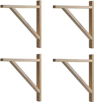IKEA EKBY VALTER - Soporte para selvas de madera (27,9 cm, 4 ...