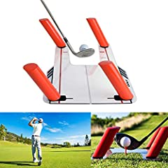The Easy Path Golf Swing Training Aid has proven to be one of the best training aids for golfers of all levels.  It teaches you to swing your club on the correct swing plane, and strike the ball cleanly.  With the ability to remove and move t...
