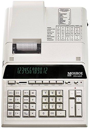 - Top of the Line Monroe UltimateX Heavy Duty 12-Digit Print/Display Printing Calculator (Calculator, Ivory)