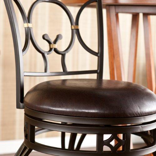 SEI Pendleton Swivel Bar Stool, Bronze