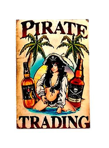 (Powerwolf2008 Pirate Trading Pinup Girl Vintage Retro Patriotic Souvenir Magnet 2