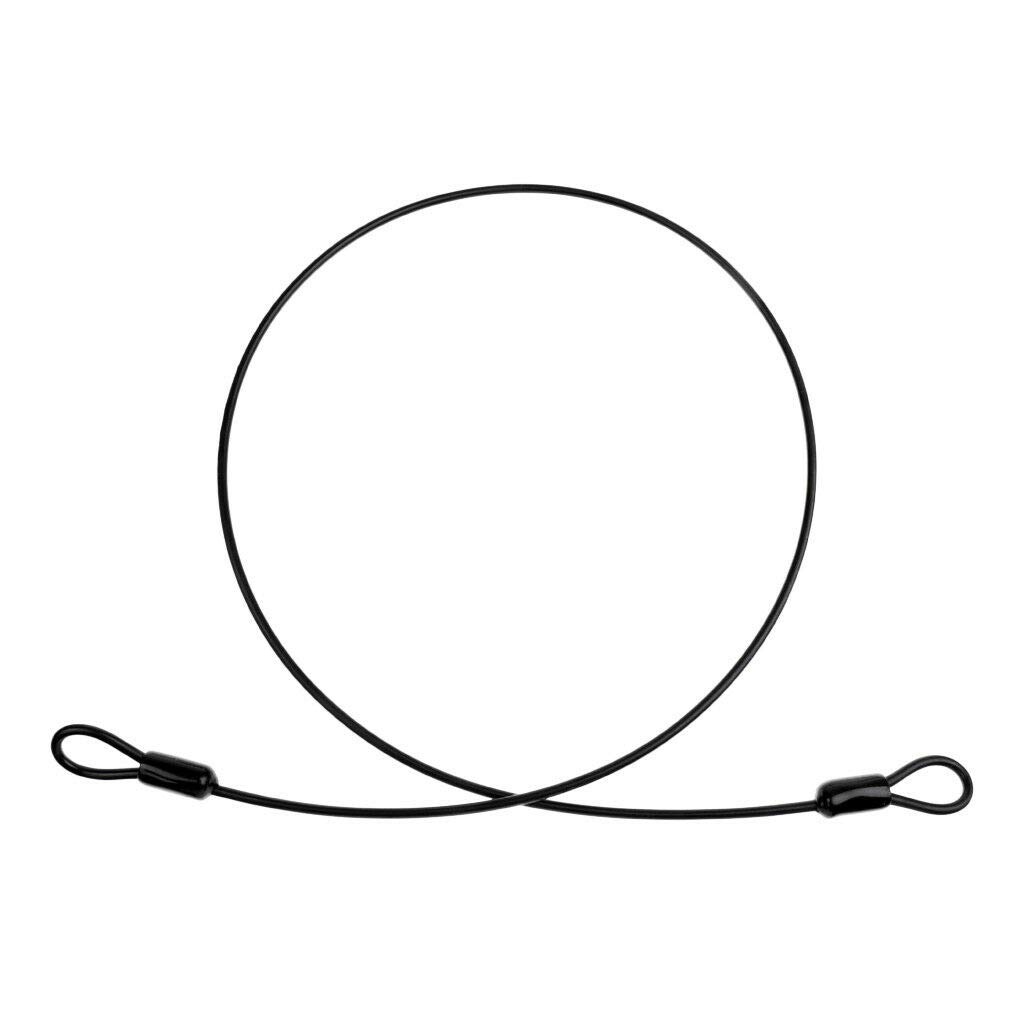 100cm Bike Cable Lock Security Loop Outdoor Hiking Camping Clothesline Black