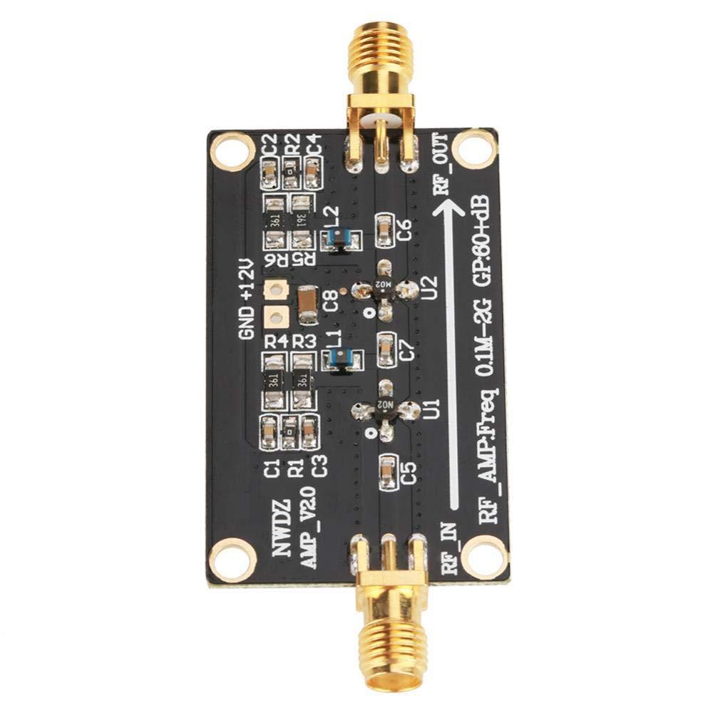 LNA 0.1M-2G 60dB RF Wideband Amplifier Module High Gain Low Noise Low Power Consumption Amplifier Two-stage Broadband Amplification LNA Amplifier Broadband
