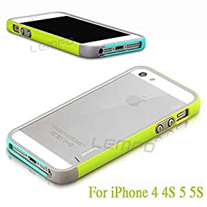Deal4U Walnutt Ultra Thin TPU + PU Soft Bumper Case Shockproof Dustproof Heat Dassipation Protective Frame For iPhone 4 4S 5 5S 8 Color #-# Color#=For iPhone 5 5S